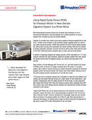 Using RGS Rapid Guide Screw for Precise Motion in New Sample Digestion System is a Smart Move