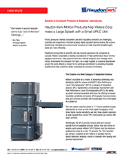 Kerk Motion Products Help Waters Corp. Make Large Splash with Small UPLC Unit