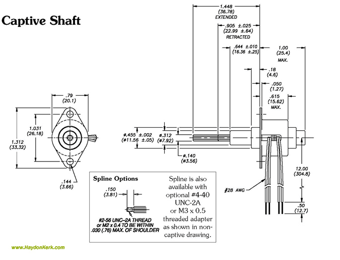 Captive Linear Shaft