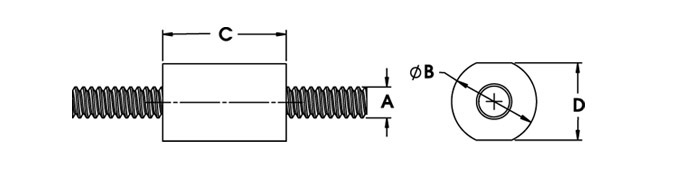Haydon Kerk BFWB Lead Screw Nut Drawing