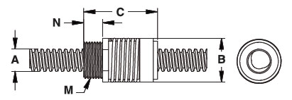 Haydon Kerk CMPT Lead Screw Nut Drawing