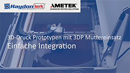 3D Druck Prototypen mit 3DP Muttereinsatz Video